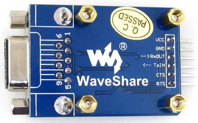 Макетная плата преобразователя RS232-UART.