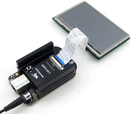 Плата расширения LCD Cape для BeagleBone Black с поддержкой