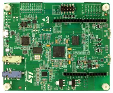 Отладочная плата STM32F723E-DISCO. Вид снизу