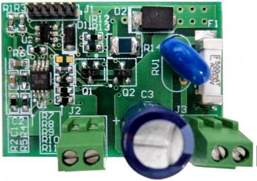 Плата драйвера управления током 230 В AC соленоида TIDA-00284