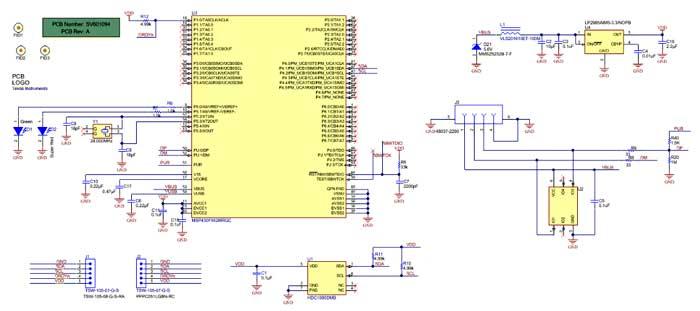 Схема принципиальная электрическая HDC1080EVM