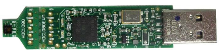 Оценочный модуль HDC1080EVM. Вид сверху