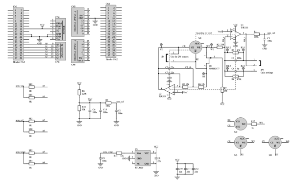Схема принципиальная электрическая платы расширения из комплекта P-NUCLEO-IKA02A1
