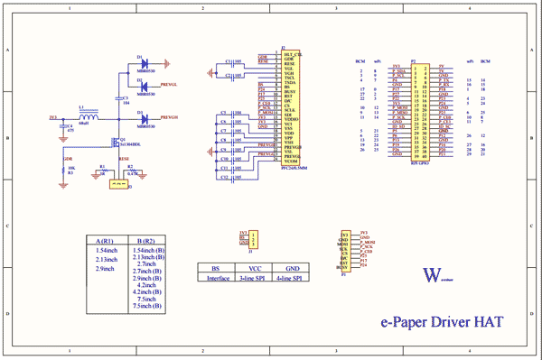 Схема принципиальная электрическая e-Paper Driver