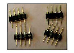 Для фиксации разъемов SAMTEC TS-132-G-AA в соответствующих сквозных контактных площадках можно использовать утконосы