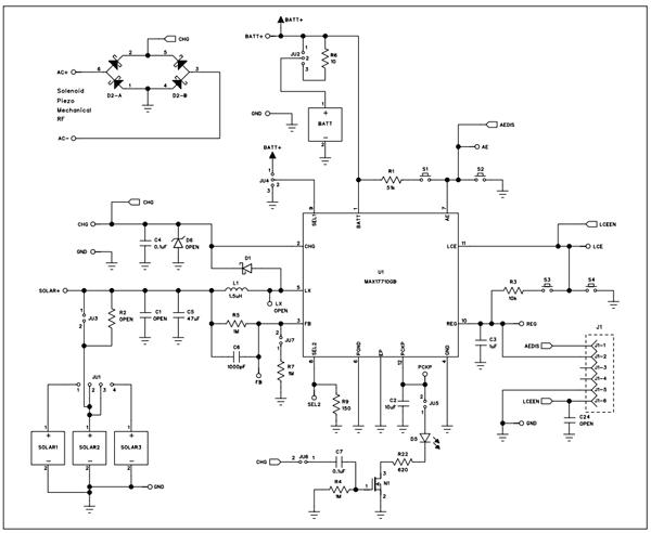 Схема принципиальная электрическая платы MAX17710GB20EVKIT#