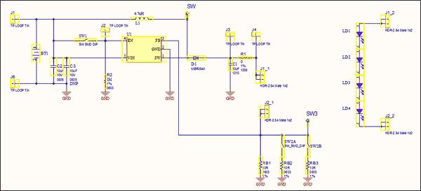 Схема принципиальная электрическая оценочной платы ADM00555