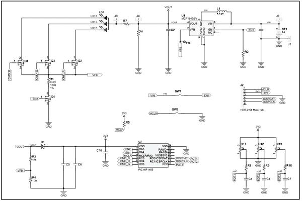 Схема принципиальная электрическая демонстрационной платы ADM00612