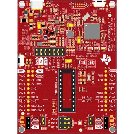 Отладочная плата MSP-EXP430G2ET. Вид сверху