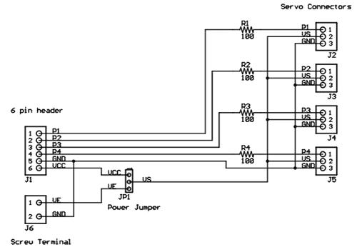 Схема принципиальная электрическая модуля Pmod CON3