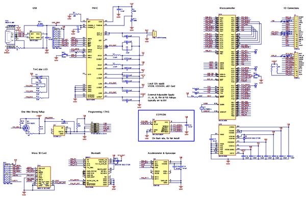 Схема принципиальная электрическая отладочной платы MAX32630FTHR#