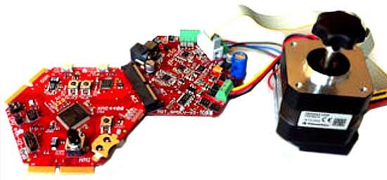 Платы комплекта в сборе с BLDC двигателем
