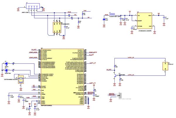 Схема электрическая принципиальная оценочного модуля LMT01EVM