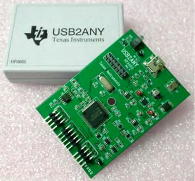 Корпус и плата интерфейсного адаптера USB2ANY