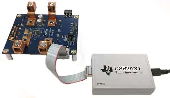 Пример подключения USB2ANY к отладочной плате с помощью 10-проводного кабеля