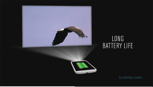 Встроенный в смартфон проектор на основе чипсета чипсета DLP2010