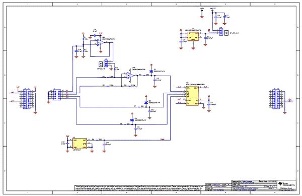Схема принципиальная электрическая ADC124S101EVM