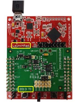 Совместное включение ADC124S101EVM и MSP430F5529 LaunchPad