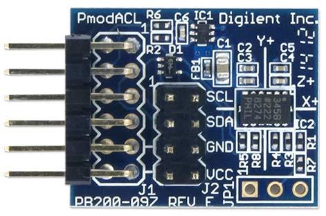 Модуль Pmod ACL. Вид сверху