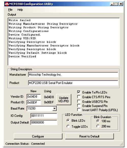 Главное окно конфигурационной утилиты для ADM00276