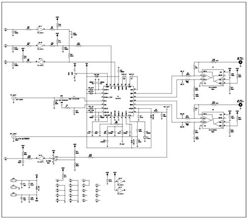 Схема принципиальная электрическая оценочной платы MAX2112EVKIT+