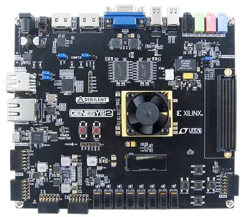 Отладочная плата GENESYS 2 Kintex-7 FPGA. Вид сверху