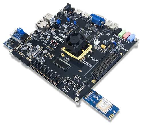 Отладочная плата GENESYS 2 Kintex-7 FPGA с подключенными к различным портам модулями PMOD