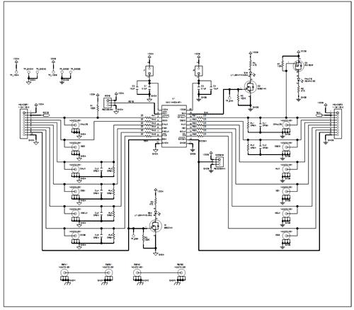 Схема принципиальная электрическая MAX14483EVKIT#
