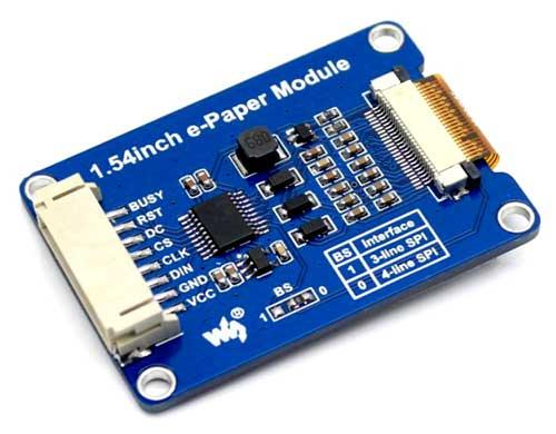 Дисплейный модуль 1.54inch e-Paper Module [C]. Вид снизу