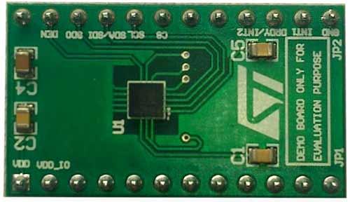 Плата адаптера STEVAL-MKI136V1 3-осевого гироскопа L3GD20H
