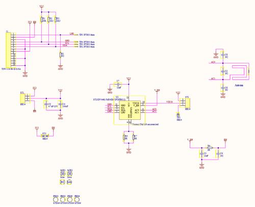 Схема принципиальная электрическая платы ST25DV_Discovery_ANT_C6
