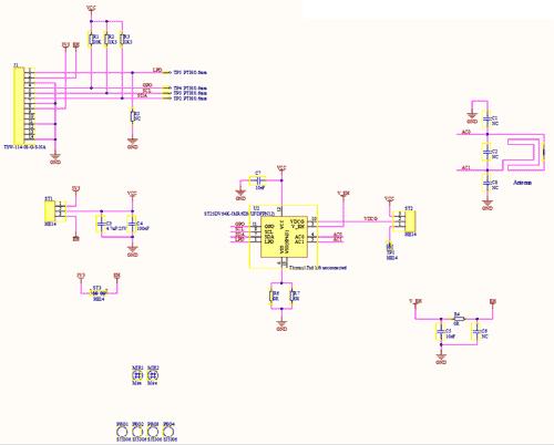 Схема принципиальная электрическая платы ST25DV_Discovery_ANT_C1
