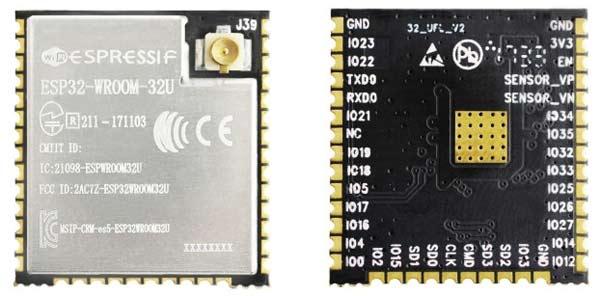 Модуль ESP32-WROOM-32U
