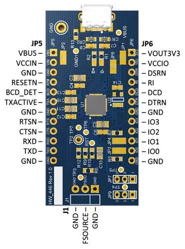 Назначение выводов модуля UMFT260EV1A
