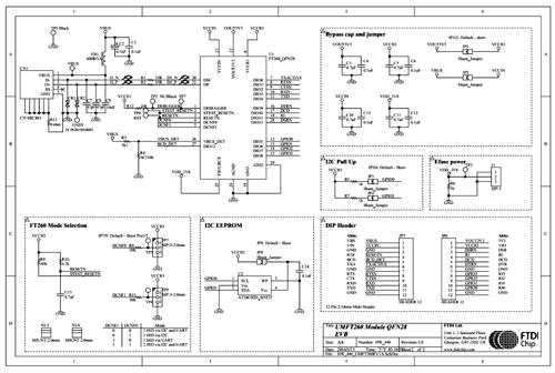 Схема принципиальная электрическая модуля UMFT260EV1A