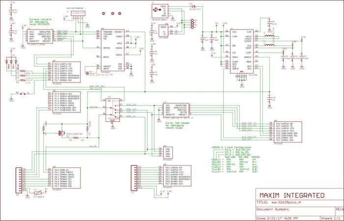 Схема принципиальная электрическая платы MAX32625PICO#