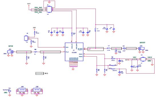 Схема принципиальная электрическая CC2595EVM