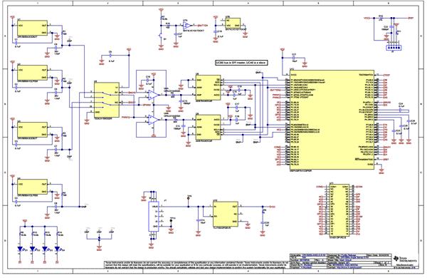 Схема принципиальная электрическая оценочной платы DRV5055-ANGLE-EVM