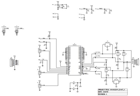 Схема принципиальная электрическая оценочной платы MAXM22511EVKIT