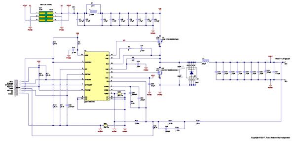 Схема принципиальная электрическая оценочного модуля LM5145EVM-HD-20A
