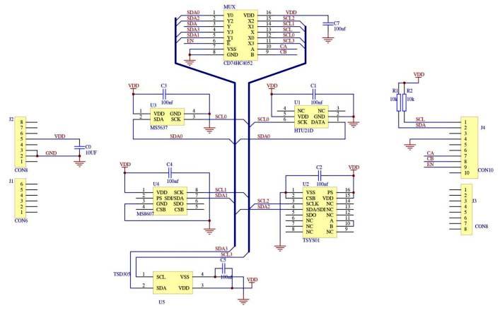 Схема принципиальная электрическая платы расширения DPP902S000