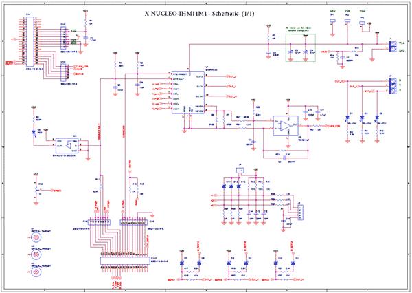Схема принципиальная электрическая X-NUCLEO-IHM11M1