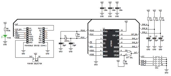 Схема принципиальная электрическая отладочной платы MIKROE-1917