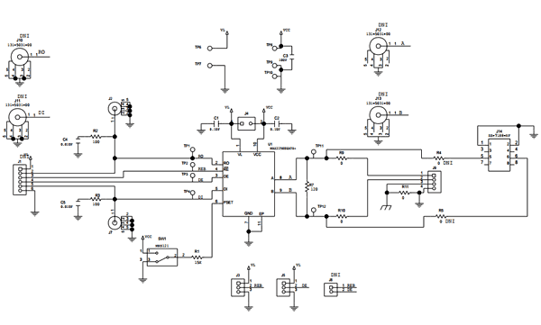 Схема принципиальная электрическая платы MAX22500EEVKIT#