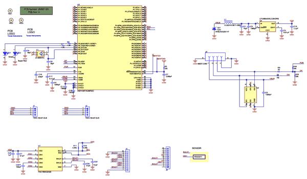 Схема принципиальная электрическая оценочного модуля FDC1004QEVM