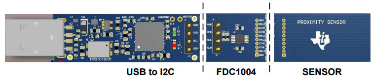 Секции модуля FDC1004QEVM