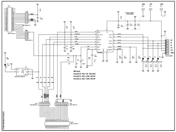 Схема принципиальная электрическая платы расширения X-NUCLEO-IHM12A1