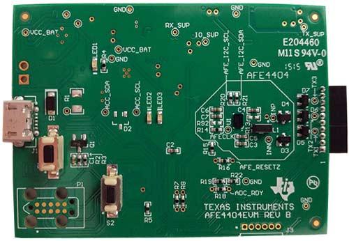 Оценочный модуль AFE4404EVM и его структурная схема