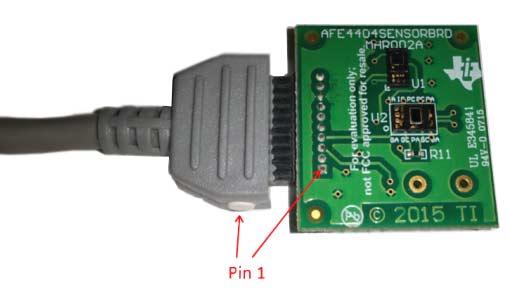 Сенсорная плата AFE4404. Подключение к кабелю