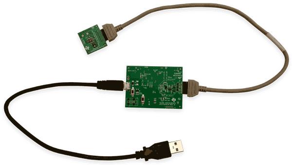 Подключение сенсорной платы к плате AFE4404EVM